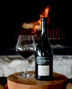 Stellenbosch wine and fireplace